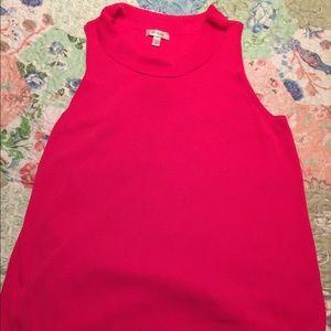 Deep pink sleeveless top